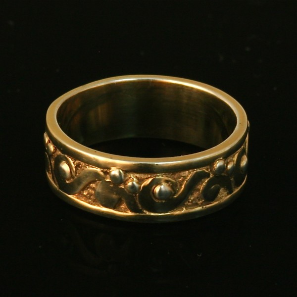 14k gold Water Ring Band
