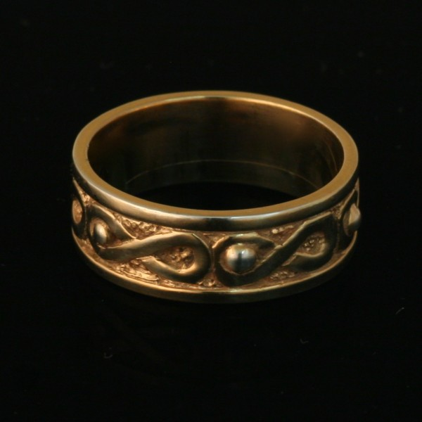 Air Ring Wedding Band 14k Yellow