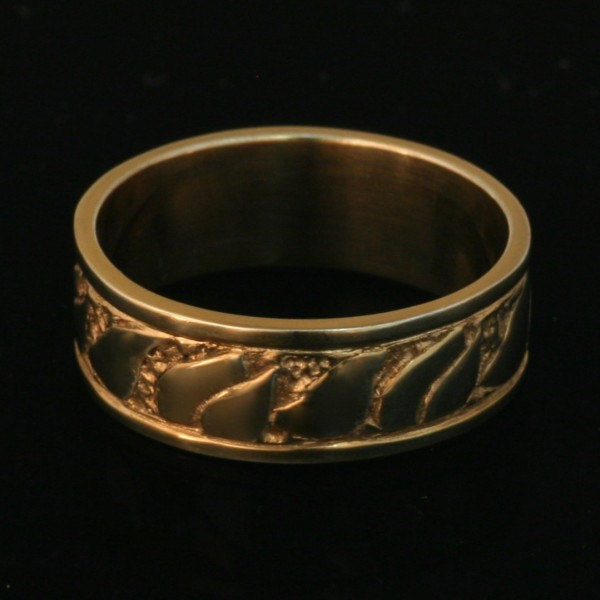 Fire Ring Wedding Band 14k Yellow