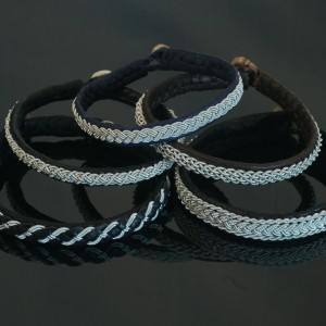 Pewter Thread Bracelets