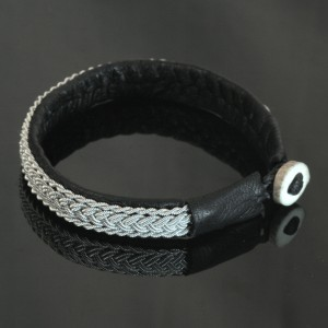 Pewter Thread Bracelet - Black