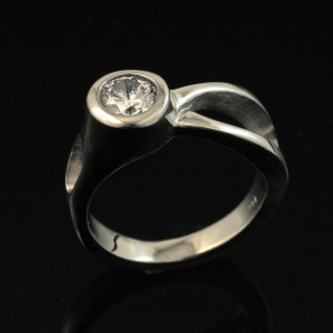 Two River Ring 14k-White Gold - Diamond