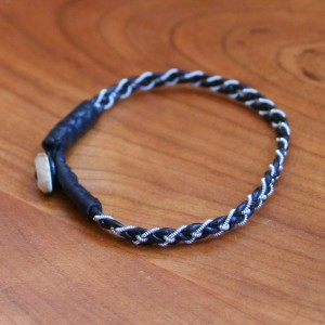 Mini Pewter Thread Bracelet black