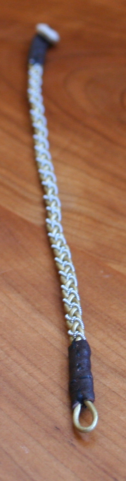 Mini Pewter Thread Bracelet green
