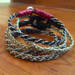 Mini Pewter Thread Bracelets