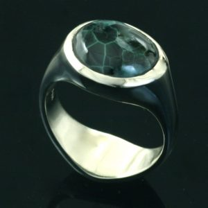 Green Stone Ring - Crown Trout Jewelers