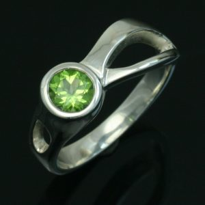 Peridot Two Rivers Ring. Crown Trout Jewelers