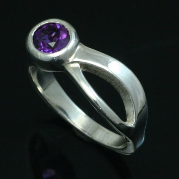 Amethyst Two Rivers Ring. Crown Trout Jewelers