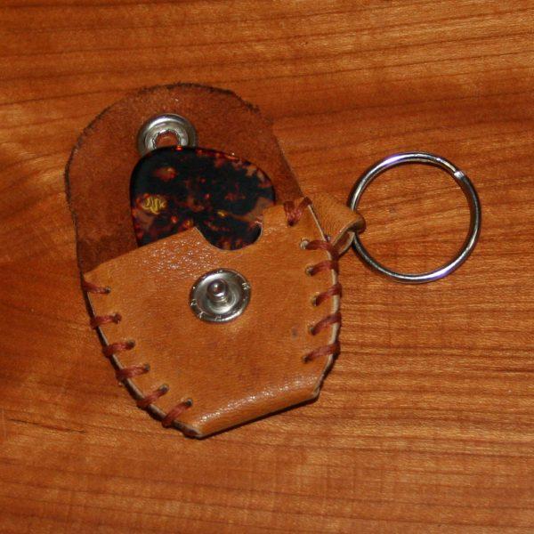 guitar pick holder (tan)
