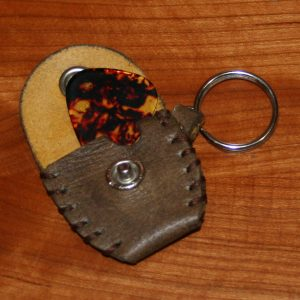 guitar pick holder (brown-grey)